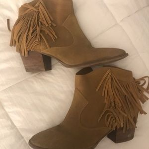 Marc Fisher fringe booties